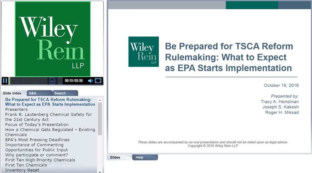 Be Prepared for TSCA Reform Rulemaking: What to Expect as