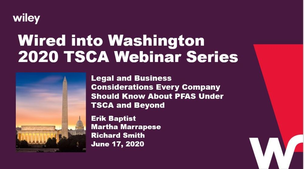 Photo of Legal and Business Considerations Every Company Should Know About PFAS Under TSCA and Beyond