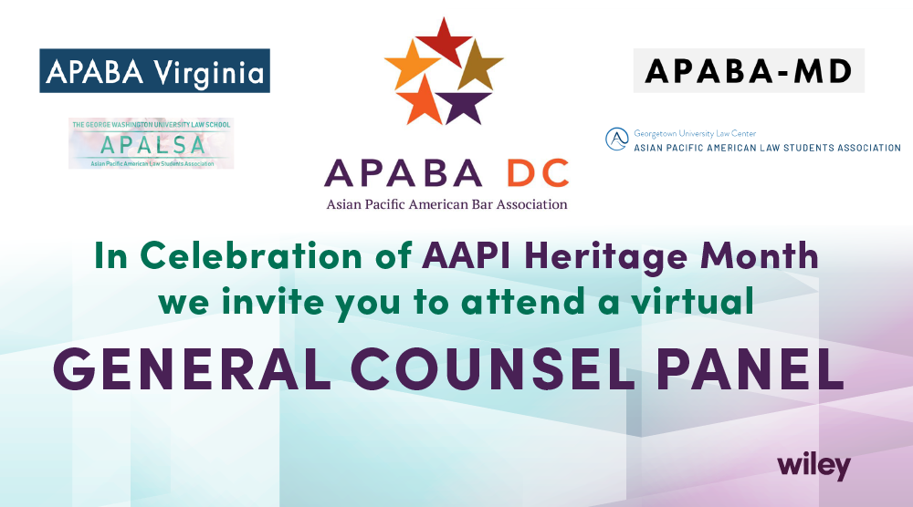 Photo of Asian Pacific American Bar Association – DC Virtual General Counsel Panel